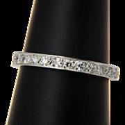Diamond ring / wedding band 0.80 cwt  platinum Art Deco US Size 6