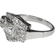Art Deco diamond engagement ring  circa 1930 white gold 18 k