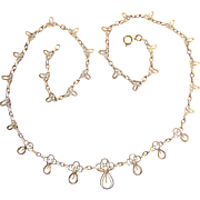 Antique Victorian decorative chain / necklace 18 k yellow gold