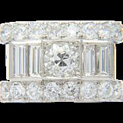 Impressive Vintage diamond ring 3.40 carat TW engagement ring / anniversary ring / cocktail ring