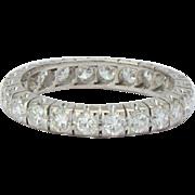 Vintage 1.50 CWT diamonds eternity band / wedding band US Size 7 18 k white ...