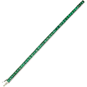Vintage Emerald Platinum bracelet Mid-Century 14.7 cwt Emerald  I.G.I Jewelry Report
