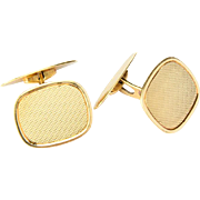 Vintage Art Deco Cufflinks 18 k yellow gold