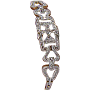 Antique diamond bracelet Edwardian circa 1910  18 k yellow gold & platinum top