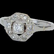 Diamond engagement ring 0.50 ctw platinum and 14 k white gold circa 1915 s