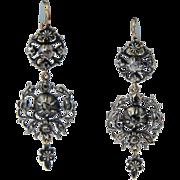 Antique Georgian diamond earrings