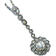 Antique 2.05 cwt rose-cut diamond necklace Edwardian circa 1915