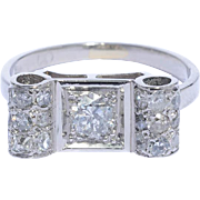 Art Deco diamond ring platinum 900 circa 1920 s