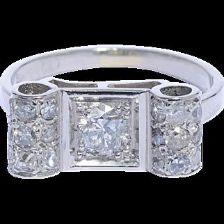 Art Deco diamond ring platinum 900 circa 1920 s