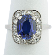 Edwardian engagement ring diamond and sapphire platinum ring circa 1910 s