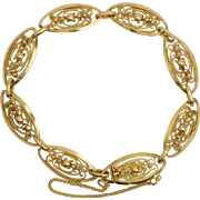 Antique bracelet 18 k yellow gold French Art Nouveau circa 1900