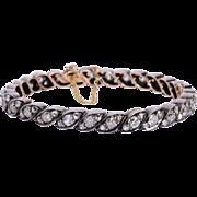 Antique Victorian 7.10 cwt diamond bracelet silver gold circa 1880 s