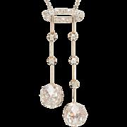 Extra large Rose-Cut Diamond Negligee necklace Platinum 900 Edwardian circa 1910