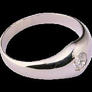 Diamond 0.28 carat Unisex ring Platinum 900 circa 1935