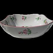 Keller & Guerin Luneville France Old Strasbourg Ca 1880 Floral Serving Bowl