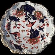 Rare Coalport Set of 8 Hong Kong Imari Sheffield Dessert Plates with Birds 10280