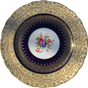 Exquisite Gold Encrusted George Jones Gold Floral Cabinet Plate 28408