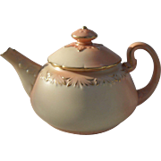 Exquisite Antique Locke & Co. Worcester Blush Gold Teapot