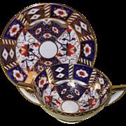 Rare Mintons for Birks Imari Cream Soup and Saucer 36041 Batwing 1891-1902