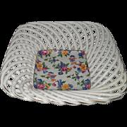 Vintage Warwick Erphila Cheery Chintz Open Lattice Square Porcelain Dish
