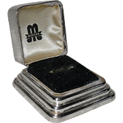 Art Deco Sturdy Sterling for Birks Graduated Sterling Silver Ring Box