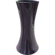 "Sleek Aubergine Purple Arts & Crafts Lovatt's Langleyware Waisted Vase 10 1/2"" England"