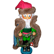 Steinbach Nutcracker Irish Santa Green Fur Coat Orig Box/Tag S 884