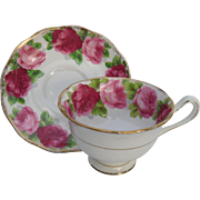 Vintage Royal Albert Old English Rose Teacup and Saucer