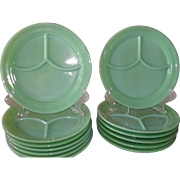 Anchor Hocking Fire King Jadeite 3 compartment Restaurant Ware Grill Plate
