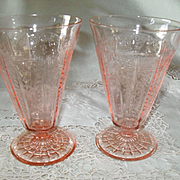 "Anchor Hocking Princess Pink Depression Glass 5 1/2"" Tumbler"