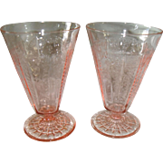 "Anchor Hocking Princess Pink Depression Glass 5 1/2"" Tumbler"