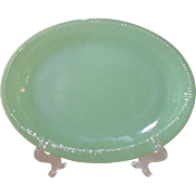 Anchor Hocking Fire King Jadeite Jane Ray Platter 12""