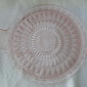 Jeannette Pink Depression Glass Windsor Two Handled Cake Plate