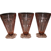 Jeannette Pink Depression Glass Adam Iced Tea Tumbler 5 1/2""