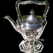 Antique Meriden Britannia Company Silverplated Spirit Kettle 1900