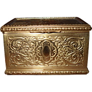 Tiffany Doux Propos Sweet Nothings Romantic Couple Brass Trinket Jewellery Box