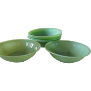 Anchor Hocking Fire King Jadeite Jane Ray Oatmeal Bowl