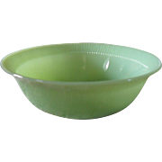 Anchor Hocking Fire King Jadeite Jane Ray Vegetable Bowl