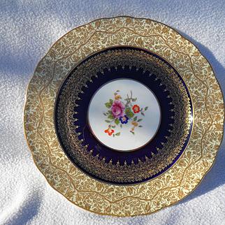 George Jones Gold Encrusted Floral Cabinet Plate 28408