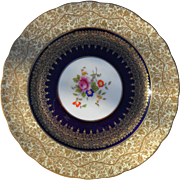 George Jones Gold Encrusted Floral Cabinet Plate 28408