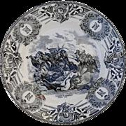 Boch Freres Military Napoleonic Battles Combat du Benhout Cabinet Plate