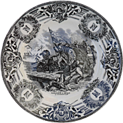 Boch Freres Military Napoleonic Battles Bonaparte a Arcole Cabinet Plate