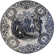 Boch Freres Military Napoleonic Battles Bonaparte Devant Madrid Cabinet Plate