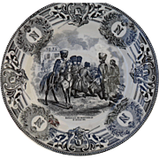 Boch Freres Military Napoleonic Battles Bataille De Montereau Cabinet Plate