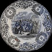 Boch Freres Military Napoleonic Battles Mort du Marechal Lannes Cabinet Plate