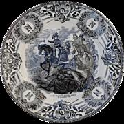 Boch Freres Military Napoleonic Battles Gen Massena Devant Zurich Cabinet Plate