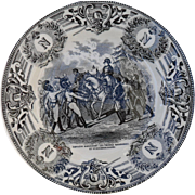 Boch Freres Military Napoleonic Battles Napoleon Haranguant Les Troupes Cabinet Plate
