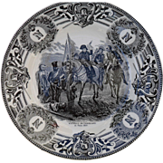 Boch Freres Military Napoleonic Battles Bataille de Friedland Cabinet Plate