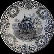 Boch Freres Military Napoleonic Battles Mort de Desaix a Marengo Cabinet Plate