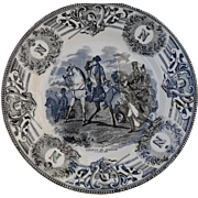Boch Freres Military Napoleonic Battles Bataille de Wagram Cabinet Plate